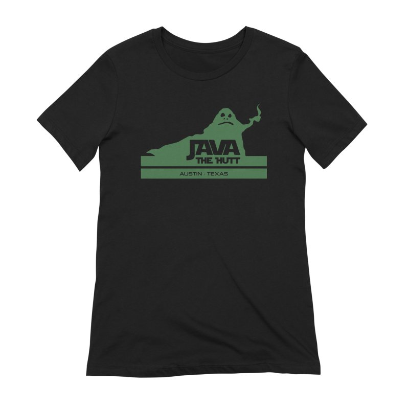 Java the Hutt Coffee House Women's Extra Soft T-Shirt by Geocaching Podcast Store