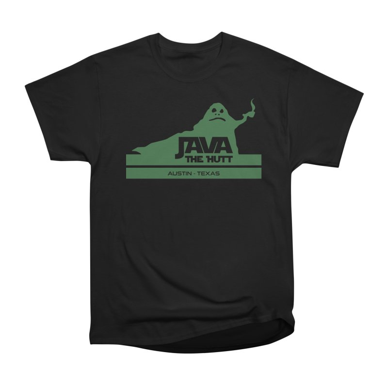 Java the Hutt Coffee House in Men's Heavyweight T-Shirt Black by Geocaching Podcast Store