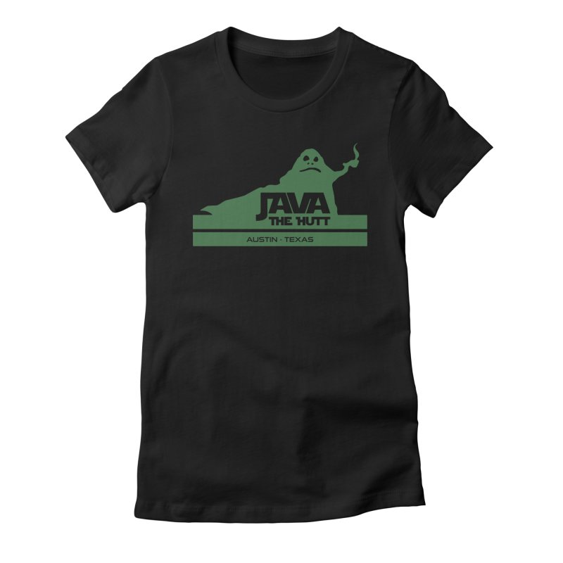 Java the Hutt Coffee House Women's Fitted T-Shirt by Geocaching Podcast Store