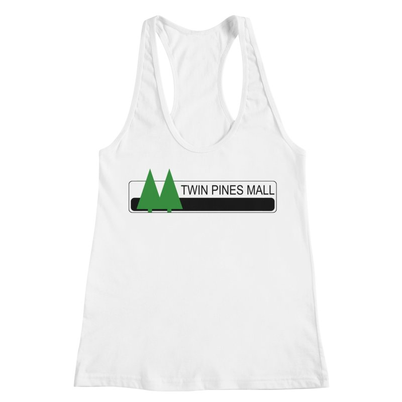 Twin Pines Mall Shirt Women's Racerback Tank by Geocaching Podcast Store