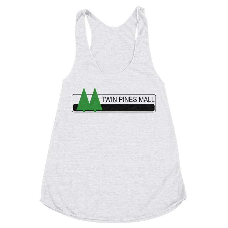 Twin Pines Mall Shirt Women's Racerback Triblend Tank by Geocaching Podcast Store