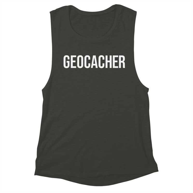 Geocacher tshirt Women's Muscle Tank by Geocaching Podcast Store