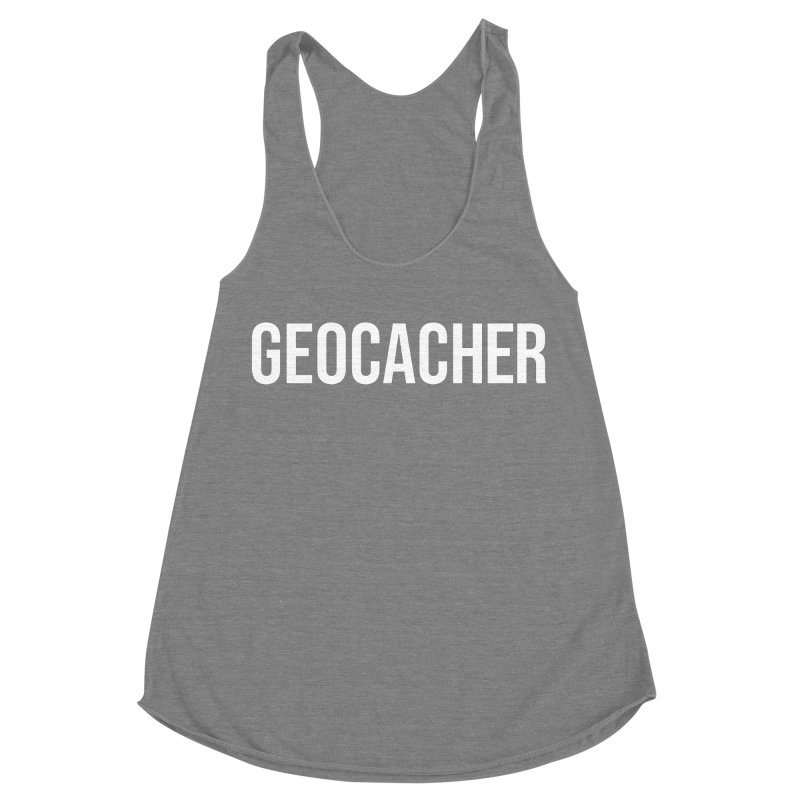 Geocacher tshirt Women's Racerback Triblend Tank by Geocaching Podcast Store