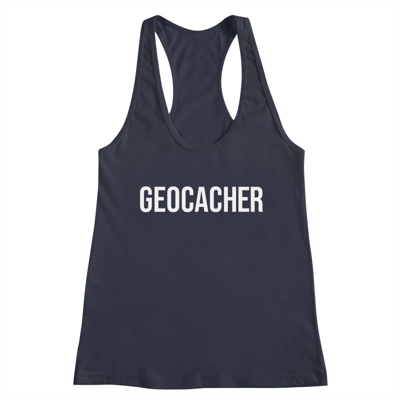 Geocacher tshirt Women's Racerback Tank by Geocaching Podcast Store