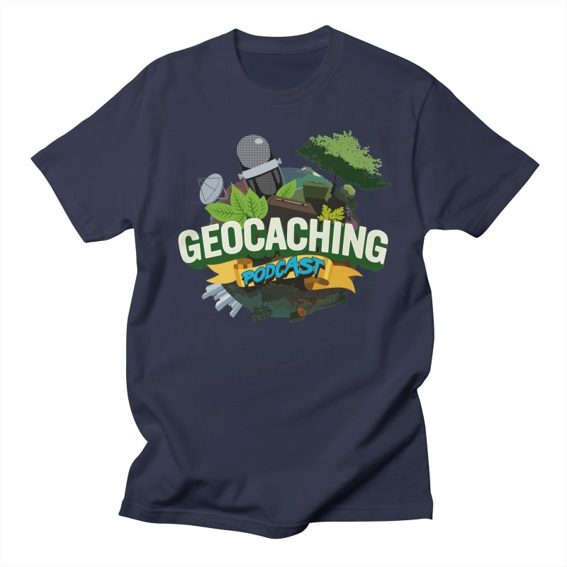GCPC Logo in Men's Regular T-Shirt Navy by Geocaching Podcast Shop