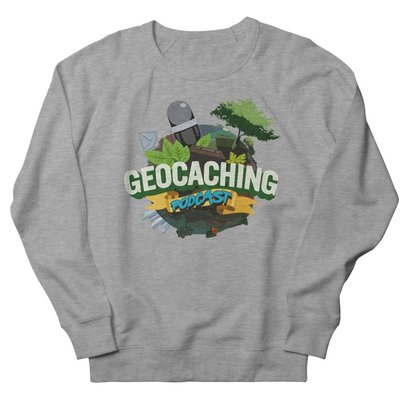 GCPC Logo in Men's French Terry Sweatshirt Heather Graphite by Geocaching Podcast Shop