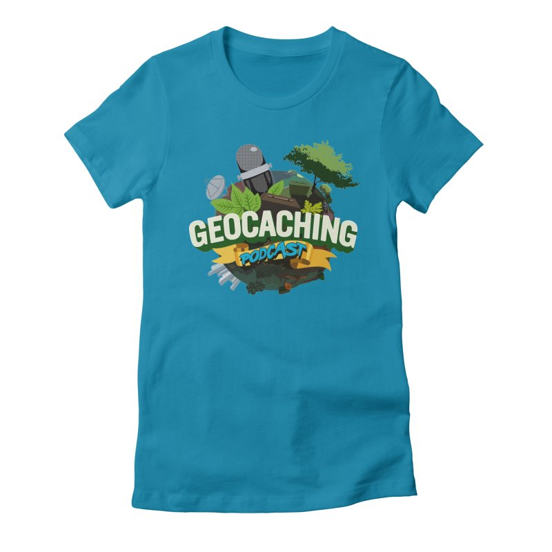 GCPC Logo Women's Fitted T-Shirt by Geocaching Podcast Shop