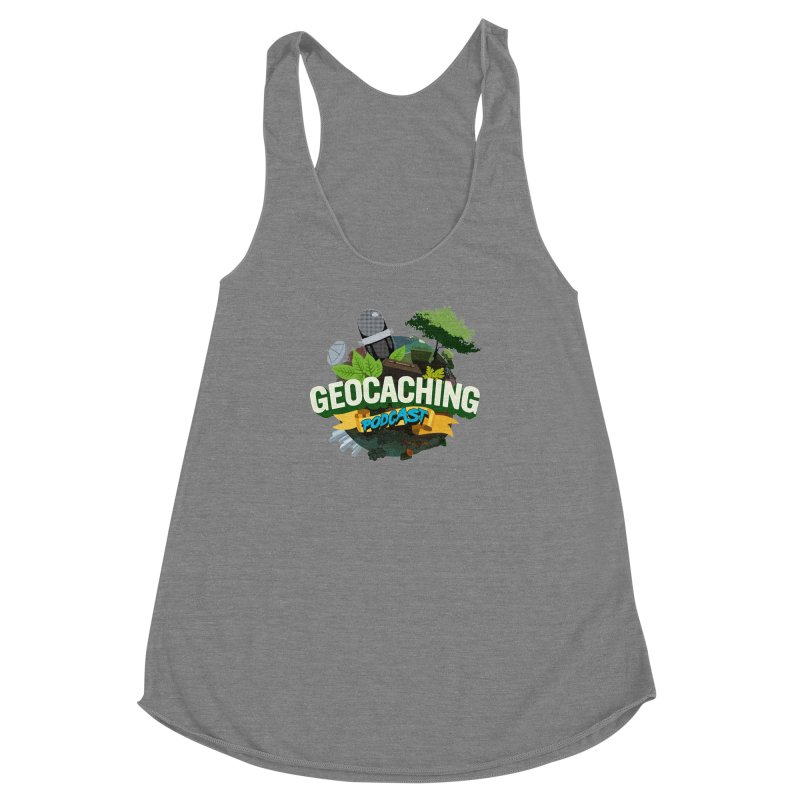 GCPC Logo Women's Racerback Triblend Tank by Geocaching Podcast Shop