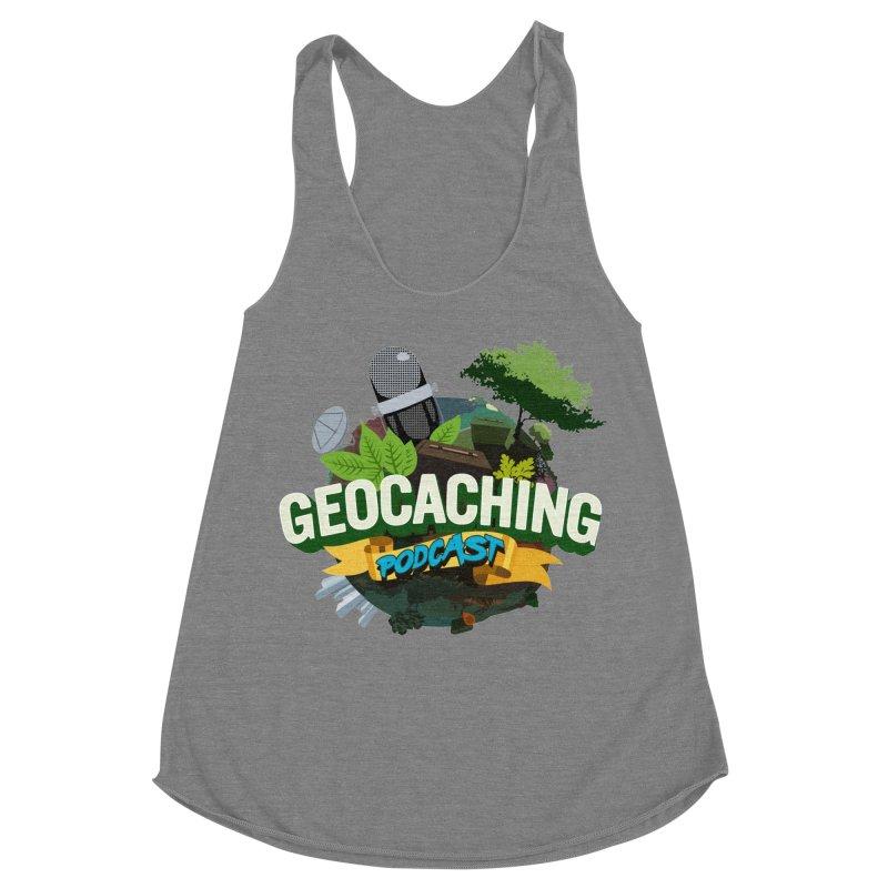 GCPC Logo Women's Racerback Triblend Tank by Geocaching Podcast Store