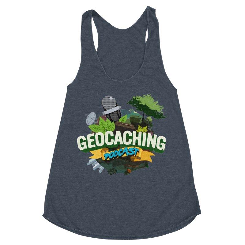 GCPC Logo Women's Racerback Triblend Tank by Geocaching Podcast Shop