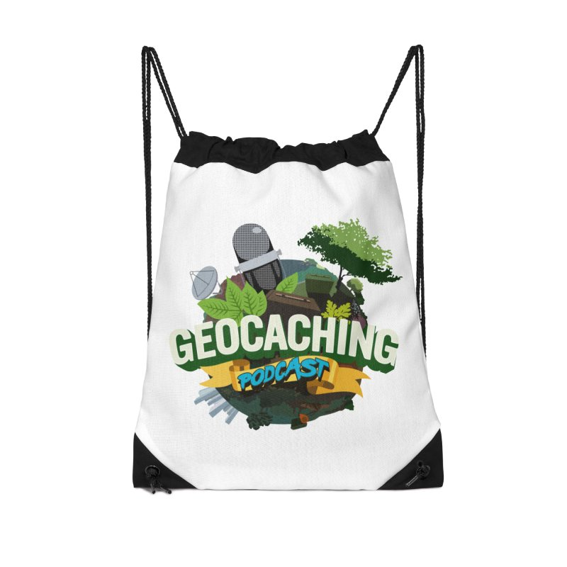 GCPC Logo in Drawstring Bag by Geocaching Podcast Shop