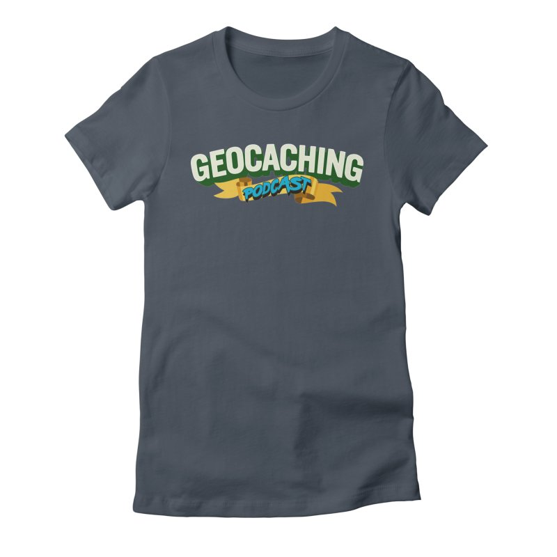 GCPC Logo (Just Text) Women's Fitted T-Shirt by Geocaching Podcast Shop