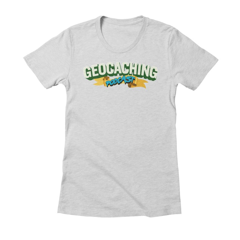 GCPC Logo (Just Text) Women's Fitted T-Shirt by Geocaching Podcast Store