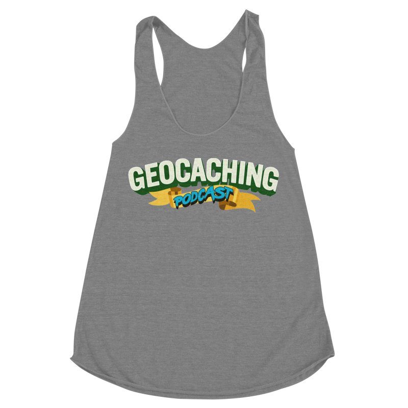GCPC Logo (Just Text) Women's Racerback Triblend Tank by Geocaching Podcast Shop