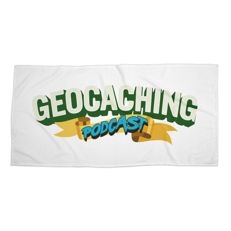 GCPC Logo (Just Text) in Beach Towel by Geocaching Podcast Shop