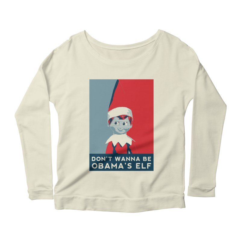 All By My Elf Women's Scoop Neck Longsleeve T-Shirt by Gepson Design