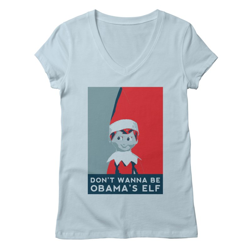 All By My Elf Women's Regular V-Neck by Gepson Design