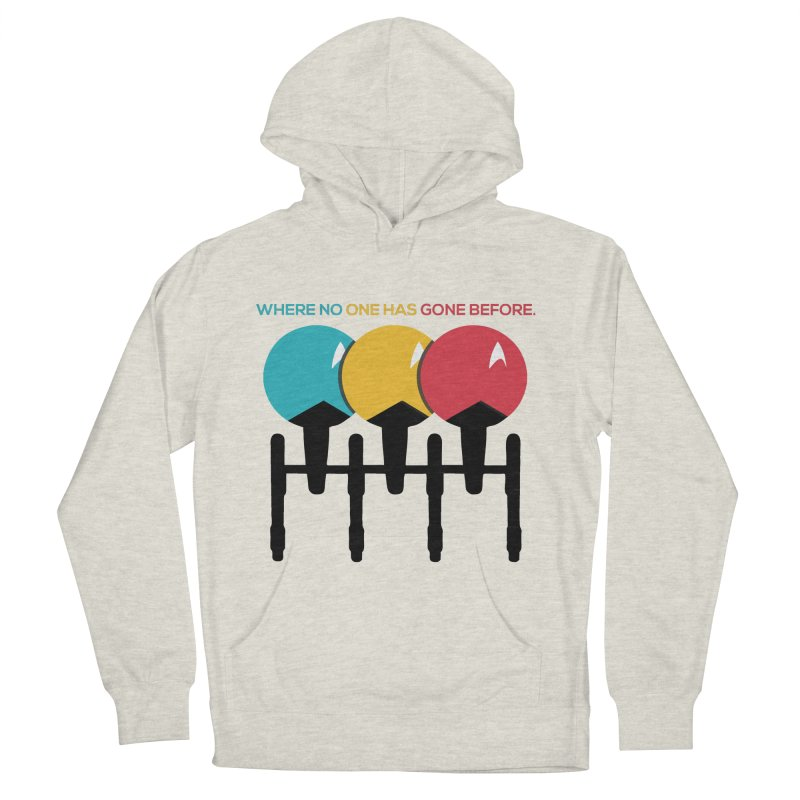 Where No One Has Gone Before Men's Pullover Hoody by Gepson Design