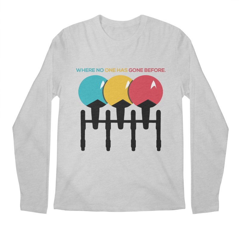 Where No One Has Gone Before Men's Longsleeve T-Shirt by Gepson Design