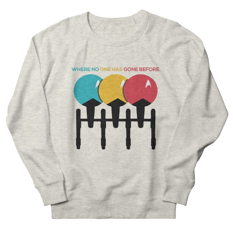 Where No One Has Gone Before Men's Sweatshirt by Gepson Design