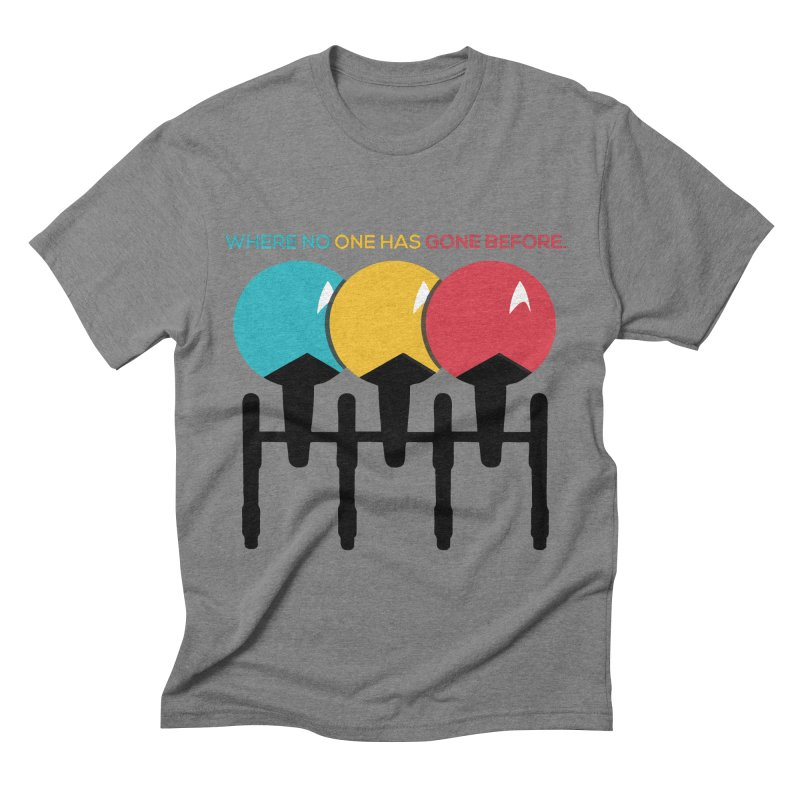 Where No One Has Gone Before Men's Triblend T-shirt by Gepson Design