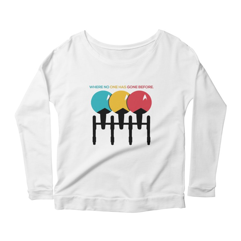 Where No One Has Gone Before Women's Scoop Neck Longsleeve T-Shirt by Gepson Design
