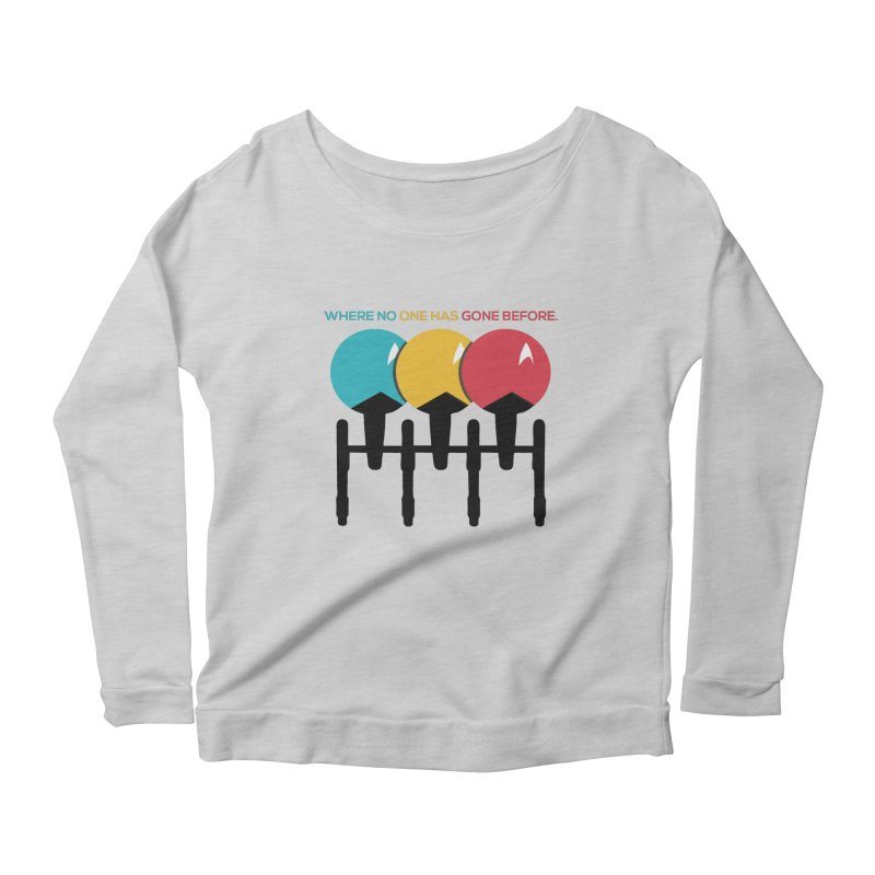 Where No One Has Gone Before Women's Longsleeve Scoopneck  by Gepson Design