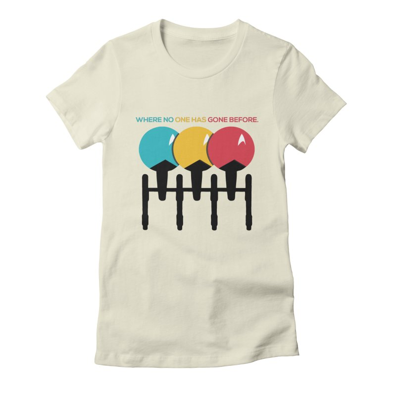Where No One Has Gone Before Women's Fitted T-Shirt by Gepson Design