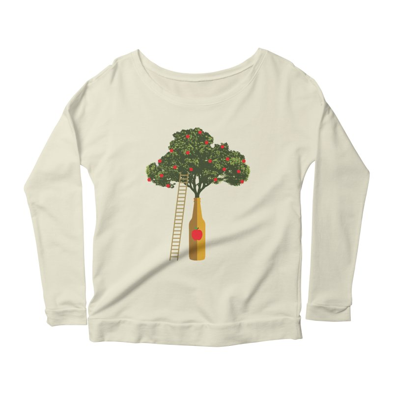 Hard Cider Women's Scoop Neck Longsleeve T-Shirt by Gepson Design