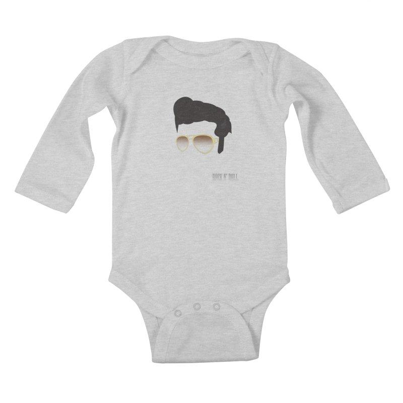 The King Kids Baby Longsleeve Bodysuit by Reticula's Artist Shop