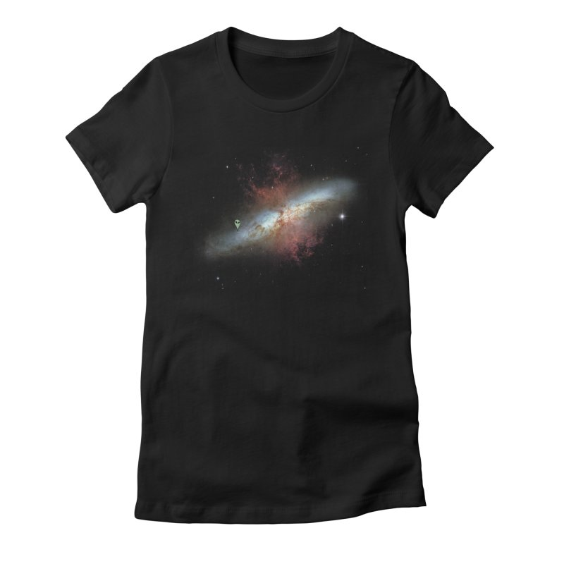 We are not alone Women's Fitted T-Shirt by Reticula's Artist Shop