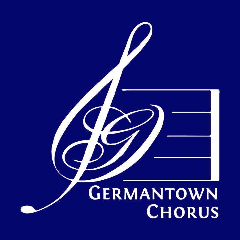 GCC Logo - White by Germantown Community Chorus Shop