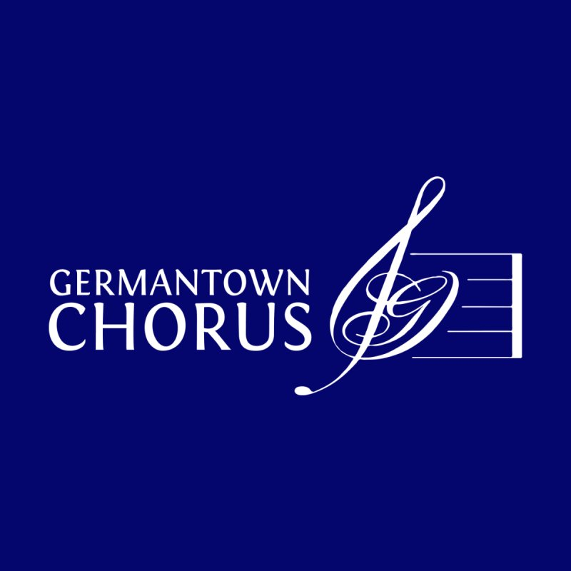 GCC Classic Logo - White by Germantown Community Chorus Shop