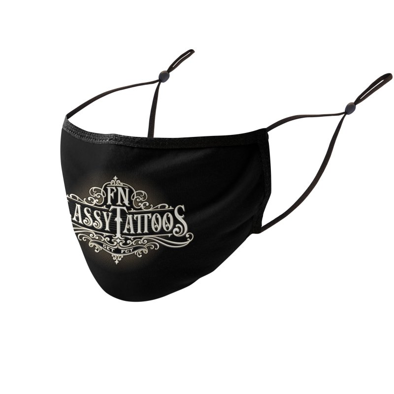 FN Classy Logo Black Accessories Face Mask by FN CLASSY STUFF FOR FN CLASSY PEOPLE