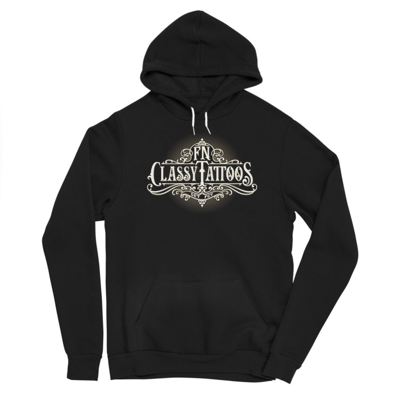 FN Classy Logo Black Men's Pullover Hoody by FN CLASSY STUFF FOR FN CLASSY PEOPLE
