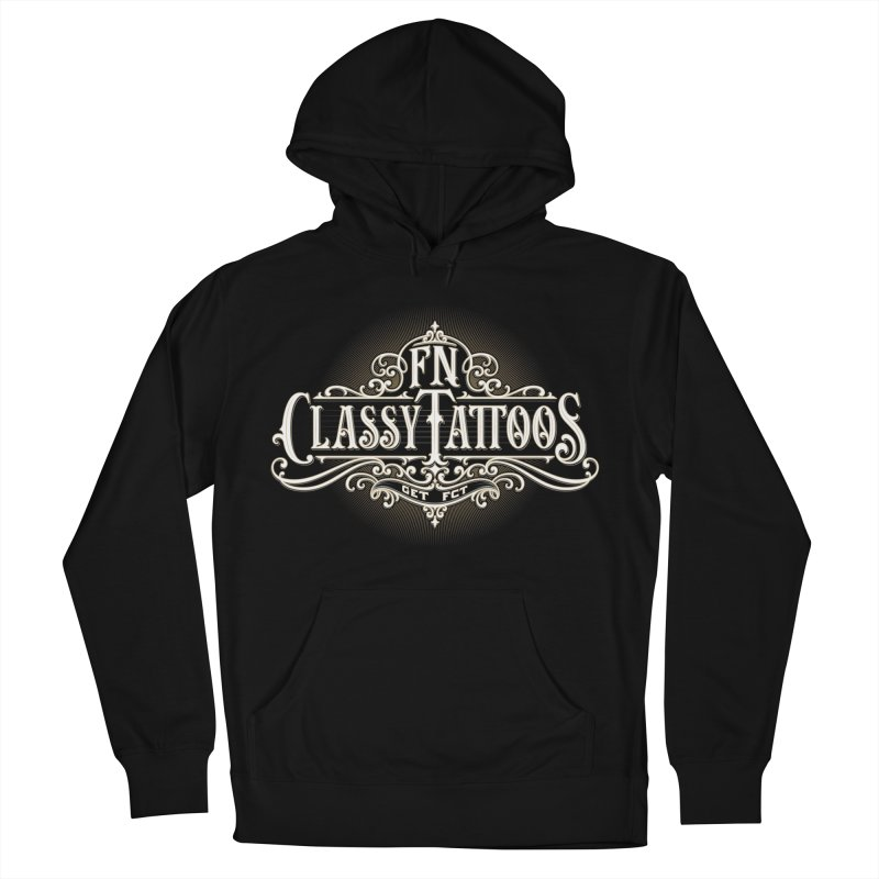 FN Classy Logo Black Men's French Terry Pullover Hoody by FN CLASSY STUFF FOR FN CLASSY PEOPLE