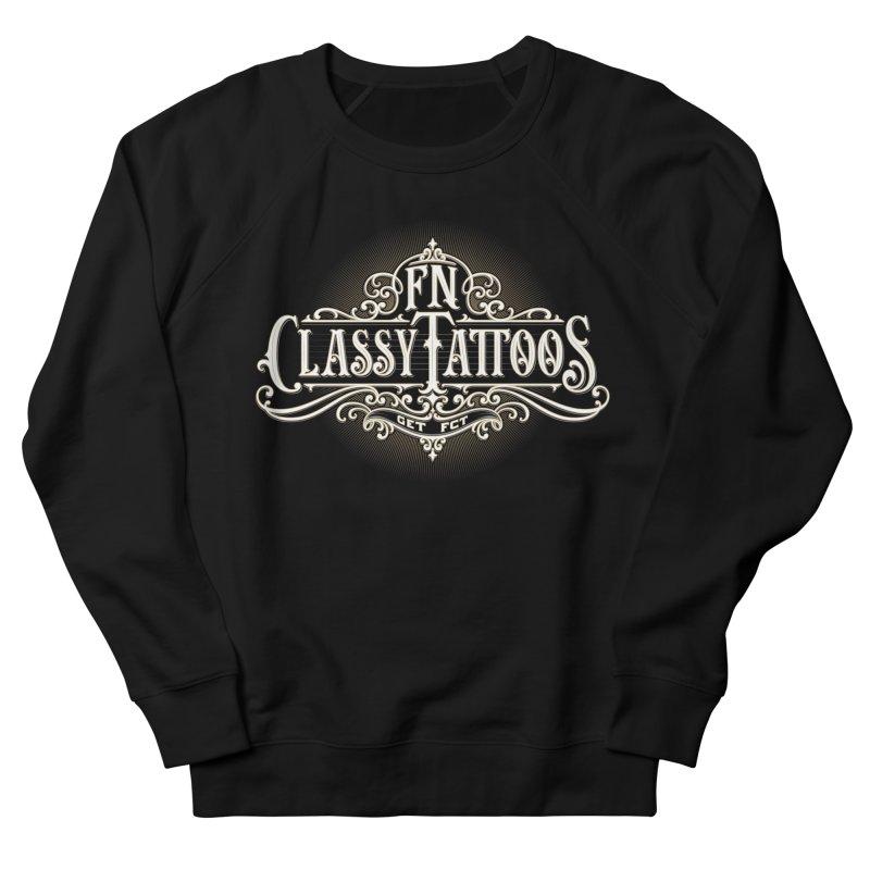 FN Classy Logo Black Women's French Terry Sweatshirt by FN CLASSY STUFF FOR FN CLASSY PEOPLE