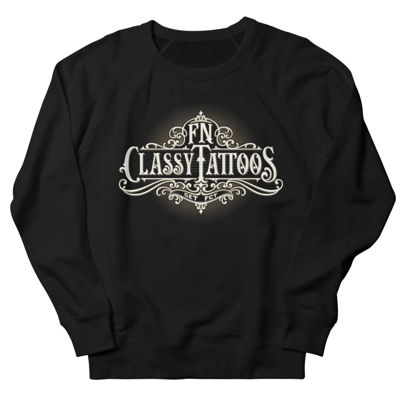 FN Classy Logo Black Men's French Terry Sweatshirt by FN CLASSY STUFF FOR FN CLASSY PEOPLE