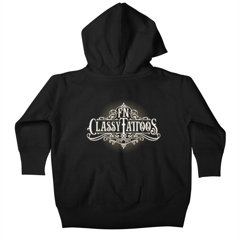 FN Classy Logo Black Kids Baby Zip-Up Hoody by FN CLASSY STUFF FOR FN CLASSY PEOPLE
