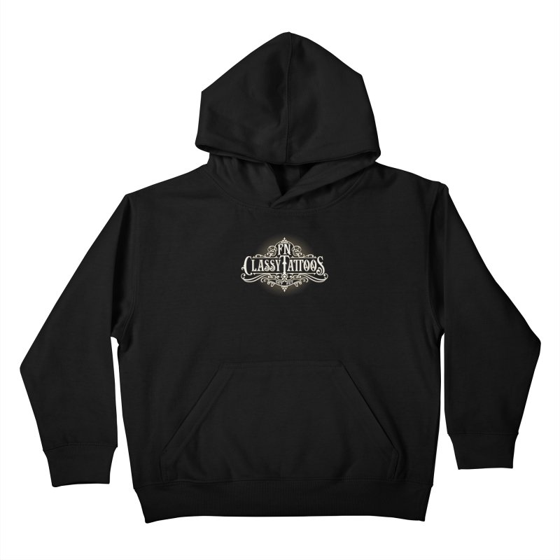 FN Classy Logo Black Kids Pullover Hoody by FN CLASSY STUFF FOR FN CLASSY PEOPLE