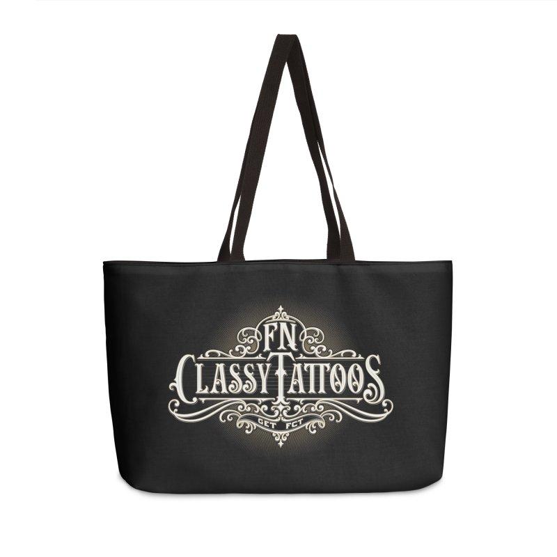 FN Classy Logo Black Accessories Weekender Bag Bag by FN CLASSY STUFF FOR FN CLASSY PEOPLE
