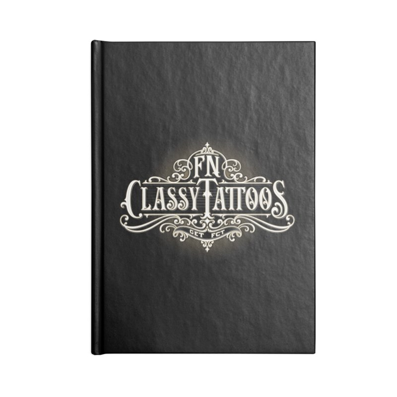 FN Classy Logo Black Accessories Lined Journal Notebook by FN CLASSY STUFF FOR FN CLASSY PEOPLE