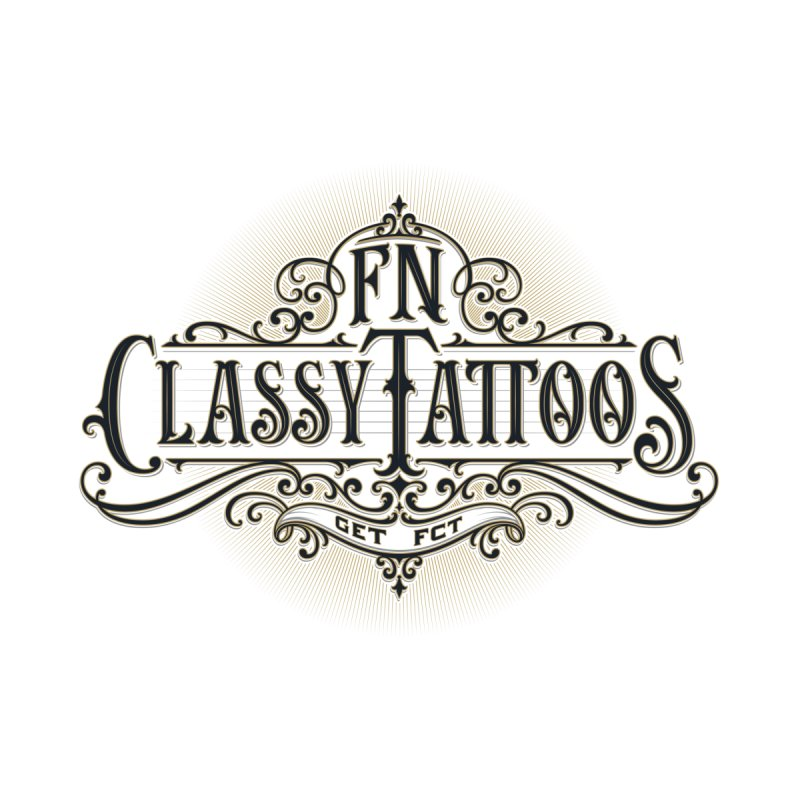 FN Classy Logo White by FN CLASSY STUFF FOR FN CLASSY PEOPLE