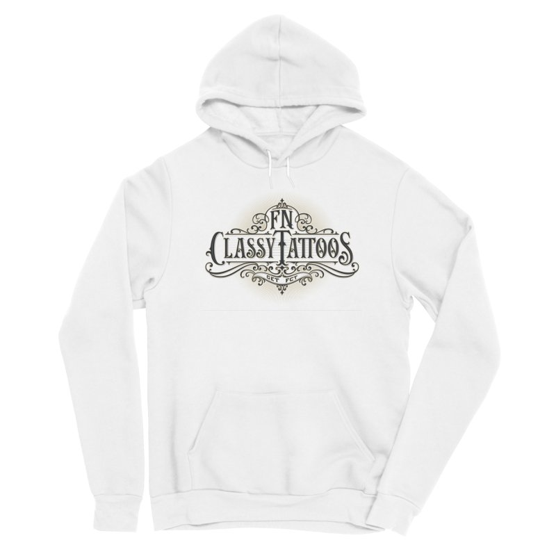 FN Classy Logo White Men's Pullover Hoody by FN CLASSY STUFF FOR FN CLASSY PEOPLE