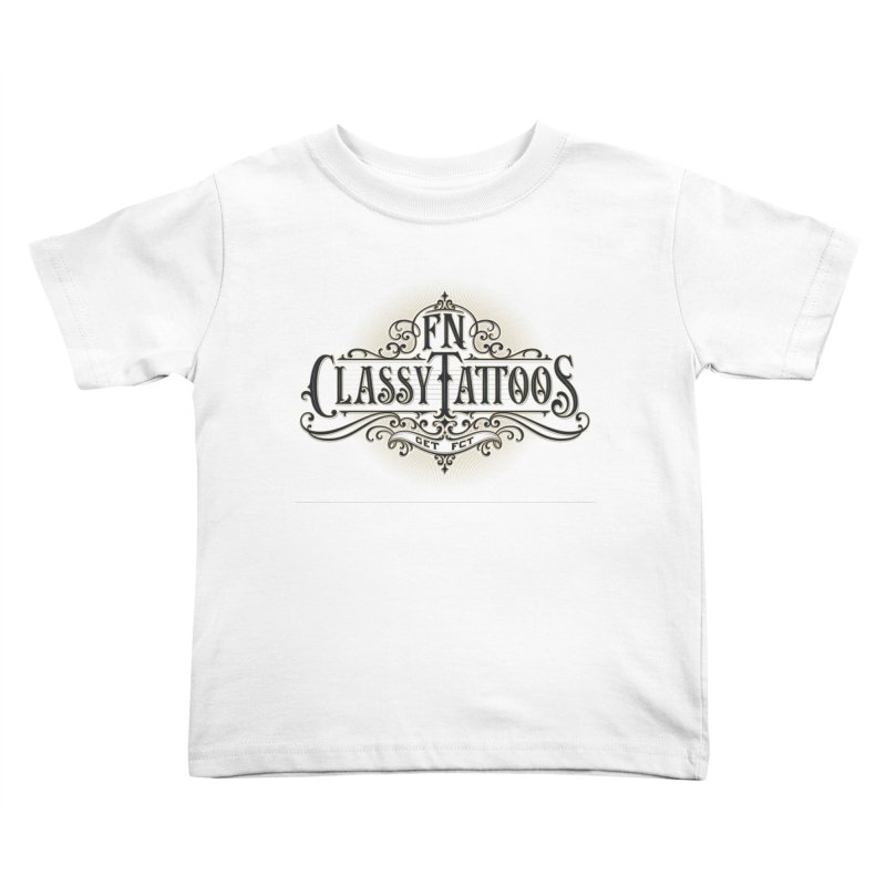 FN Classy Logo White Kids Toddler T-Shirt by FN CLASSY STUFF FOR FN CLASSY PEOPLE