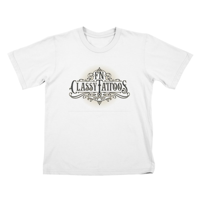 FN Classy Logo White Kids T-Shirt by FN CLASSY STUFF FOR FN CLASSY PEOPLE