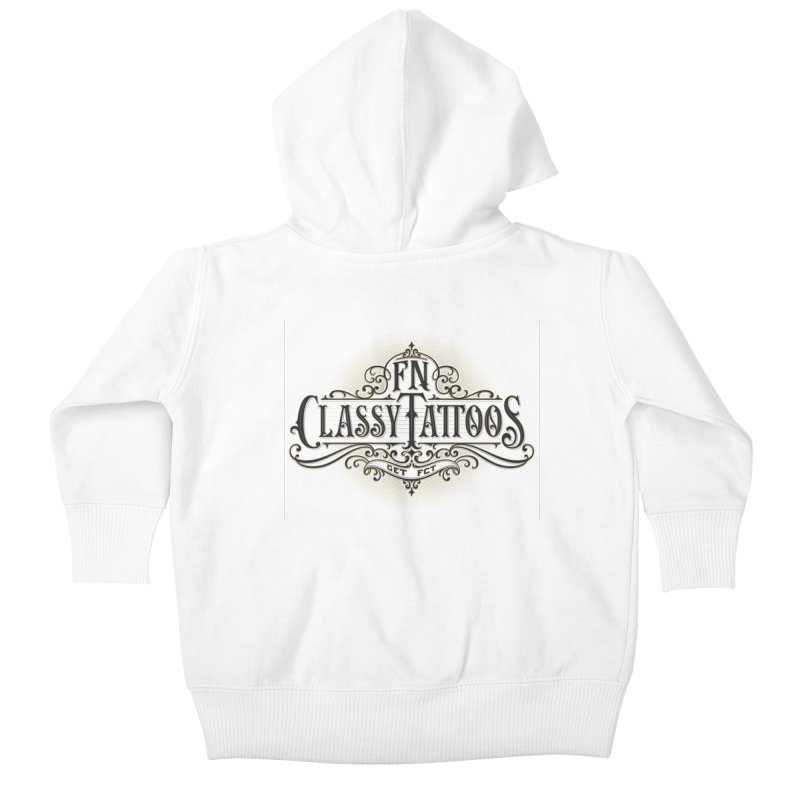 FN Classy Logo White Kids Baby Zip-Up Hoody by FN CLASSY STUFF FOR FN CLASSY PEOPLE