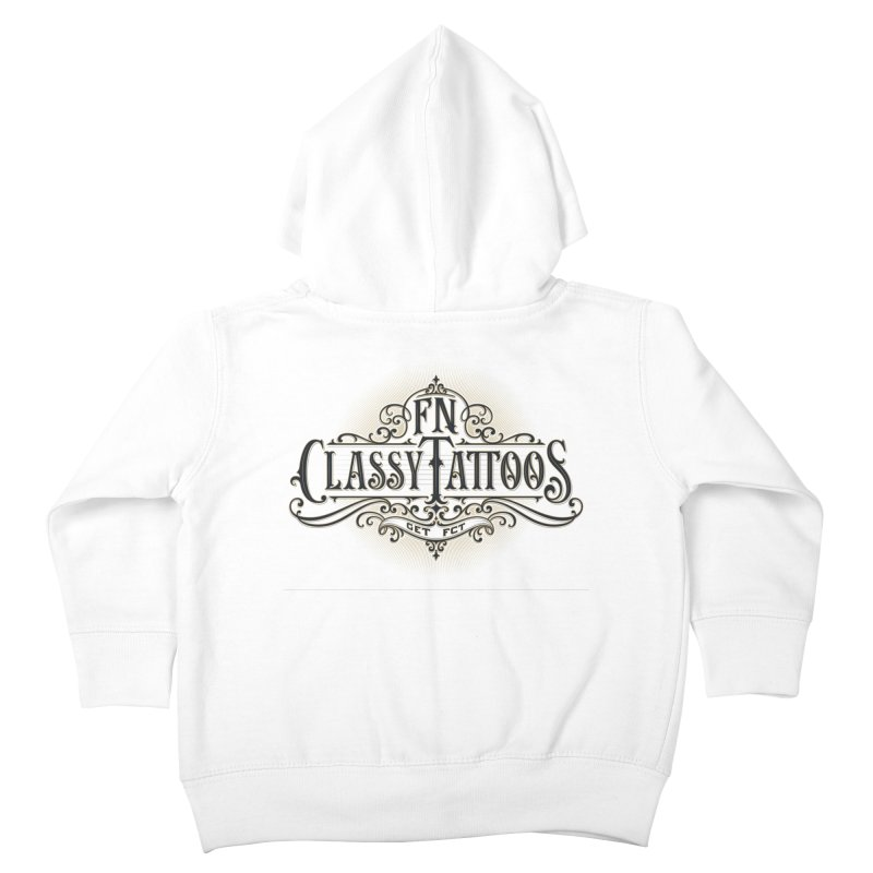 FN Classy Logo White Kids Toddler Zip-Up Hoody by FN CLASSY STUFF FOR FN CLASSY PEOPLE