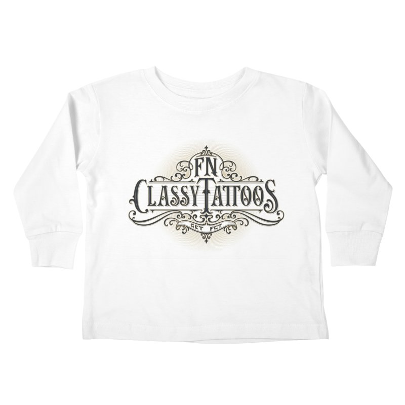 FN Classy Logo White Kids Toddler Longsleeve T-Shirt by FN CLASSY STUFF FOR FN CLASSY PEOPLE