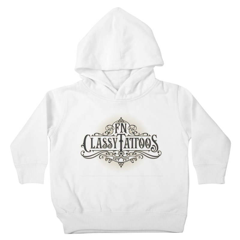 FN Classy Logo White Kids Toddler Pullover Hoody by FN CLASSY STUFF FOR FN CLASSY PEOPLE